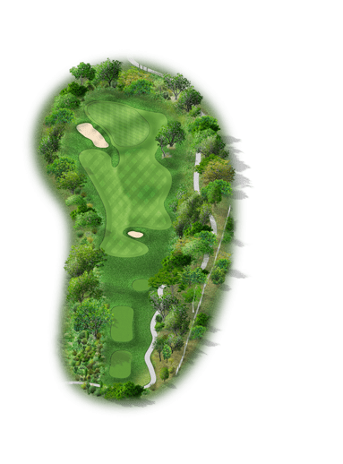 Rendering of hole #3 on the Creeks Course at Hyatt Hill Country Golf Club