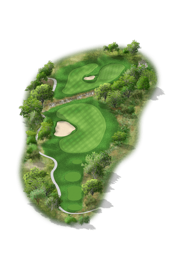 Rendering of hole #6 on the Creeks Course at Hyatt Hill Country Golf Club